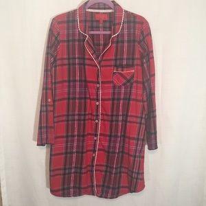 Victoria Secret Flannel Sleep Shirt